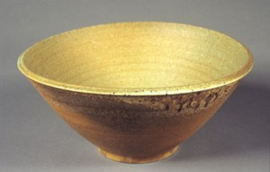 John Beckelman Bowl with Green Interior