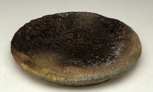 John Beckelman Platter with Blue Edge